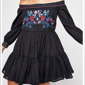 Free People Embroidered Sunbeams Mini Dress